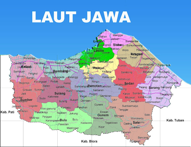 Gambar Peta Kecamatan seKabupaten Rembang