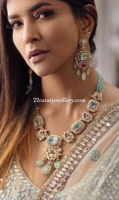 Lakshmi Manchu Emerald Necklace