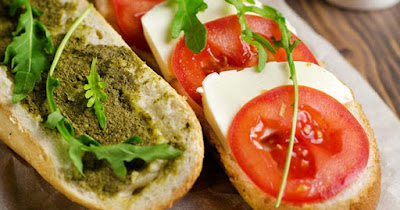 Caprese Sandwiches With Homemade Pesto