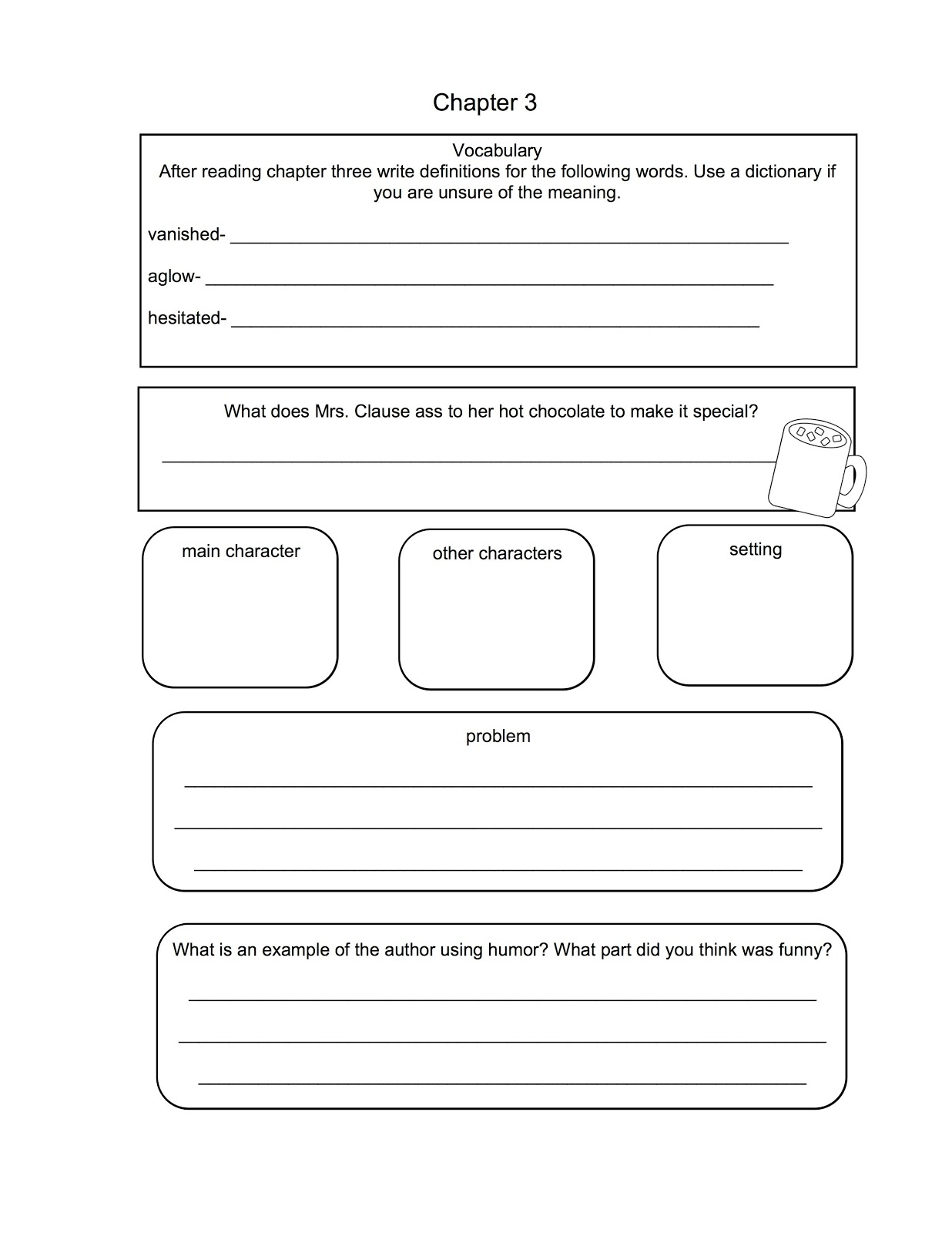 Printables Flat Stanley Worksheets teacher talk flat stanleys christmas adventure stanley chapter 3