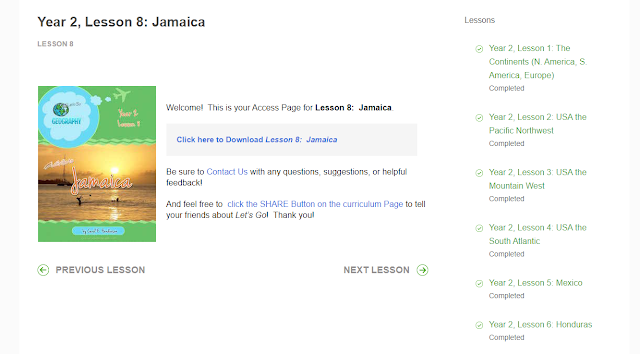 Entry portal for Jamaica lesson plans for Let's Go Geography