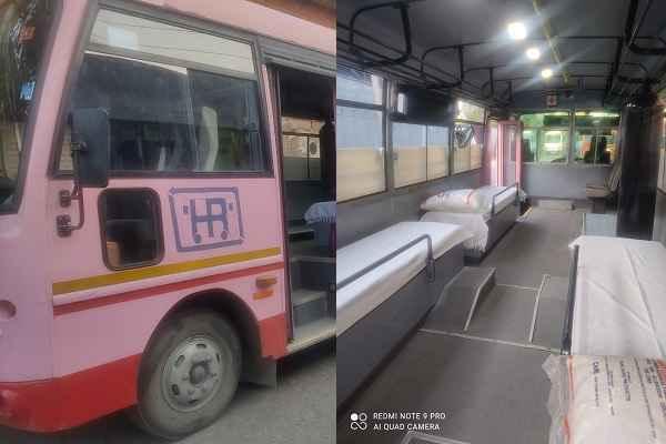 faridabad-depo-5-mini-buses-converted-in-ambulance