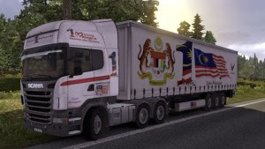 Malaysia Skins for Scania truck and trailer
