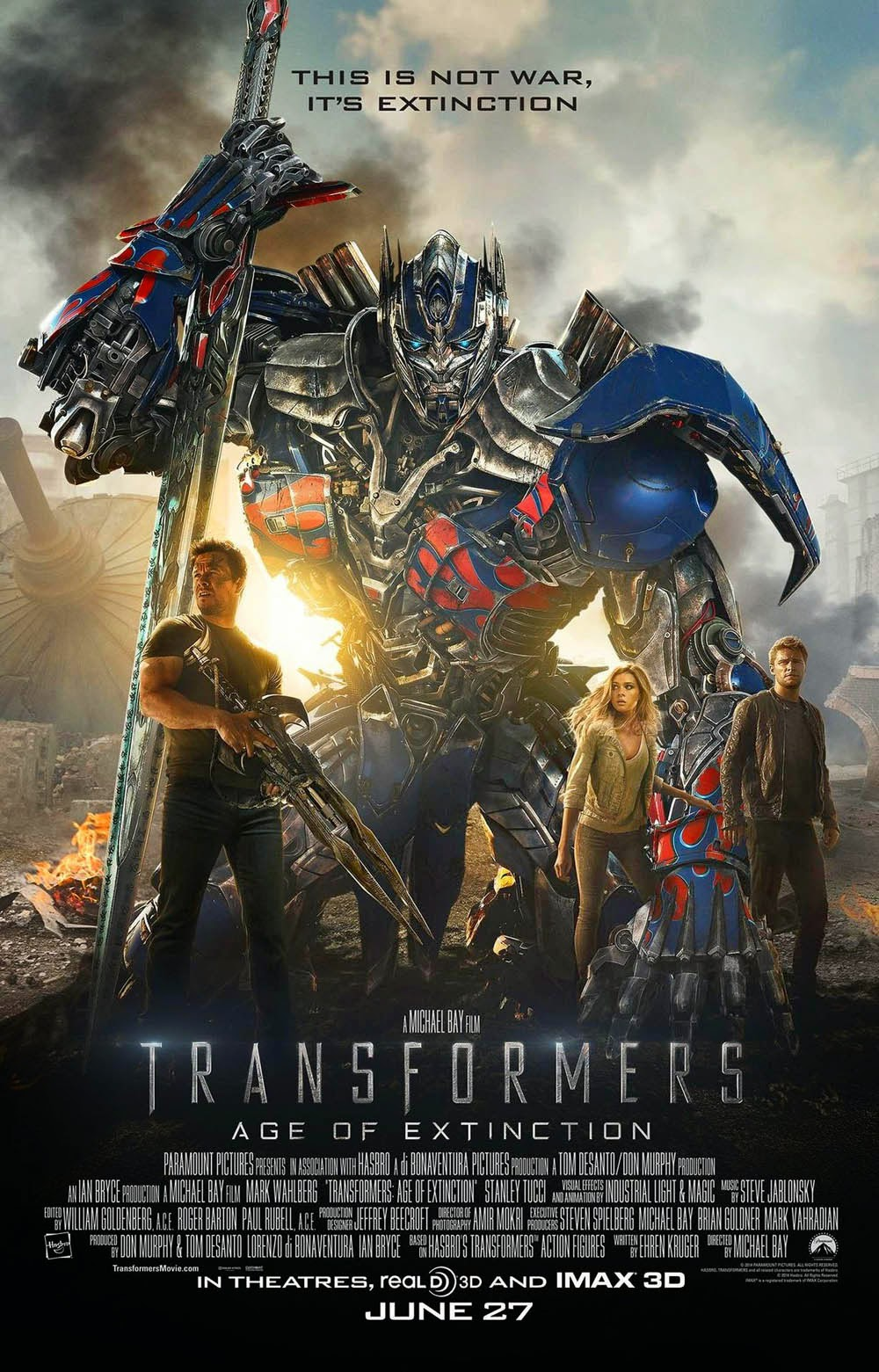 Transformers 4 poster recensione