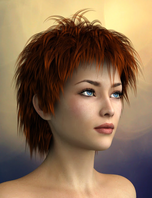 Vidra Hair for Genesis 3 Female and Male
