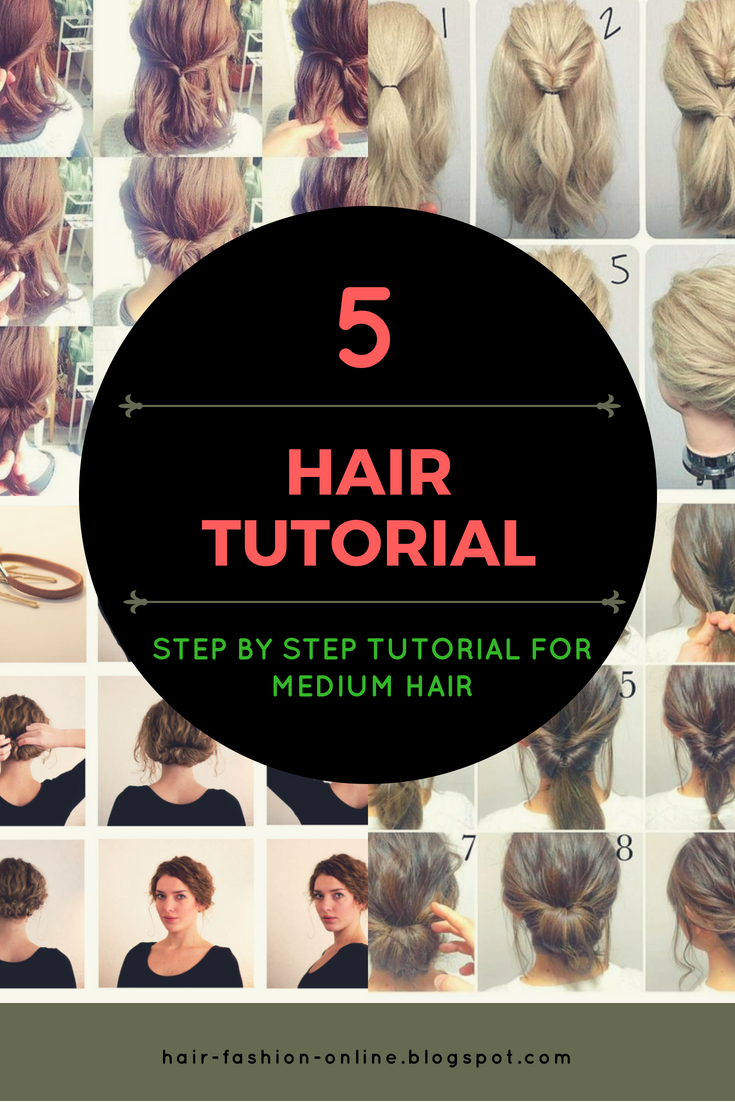 hairstyles tutorial for medium hair