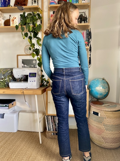 Diary of a Chain Stitcher: Allie Olson Elio Top in Ocean Teal Bamboo Rib Knit from Patterns & Plains