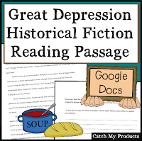 kids read about the Great Depression with computer lesson on TpT.