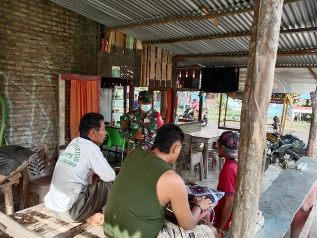 Dengan Melalui Babinsa Koramil 20/Sindar Raya Jajaran Kodim 0207/Simalungun Himbau Warga Patuhi Protkes