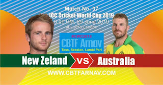 37th Match New Zeland vs Australia World Cup 2019 Today Match Prediction