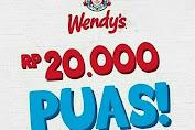 Promo Wendys Paket Puas Cuma 20.000 Hingga 31 Maret 2020
