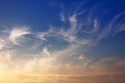 Federwische am abendlichen Himmel...