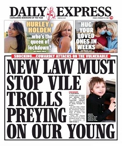 Daily Express 19 February 2021