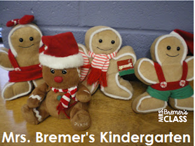 Gingerbread Man Kindergarten literacy centers for young learners- perfect for December!