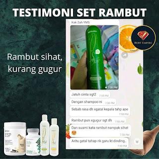 Testimoni Harga Set Shampoo dan Perapi Rambut Gugur Shaklee
