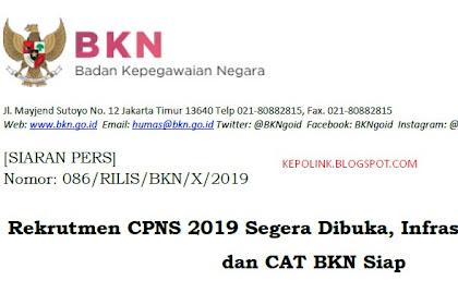 PENERIMAAN CPNS ALOKASI 197.117 FORMASI DIBUKA BULAN NOVEMBER 2019