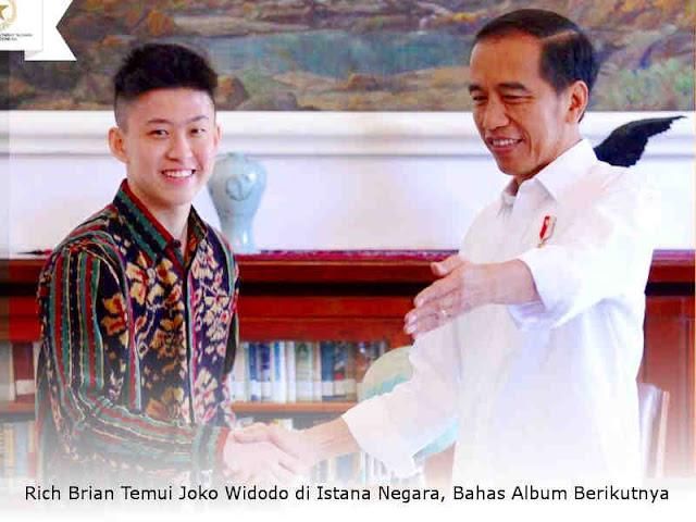 Rich Brian Temui Joko Widodo di Istana Negara, Bahas Album Berikutnya
