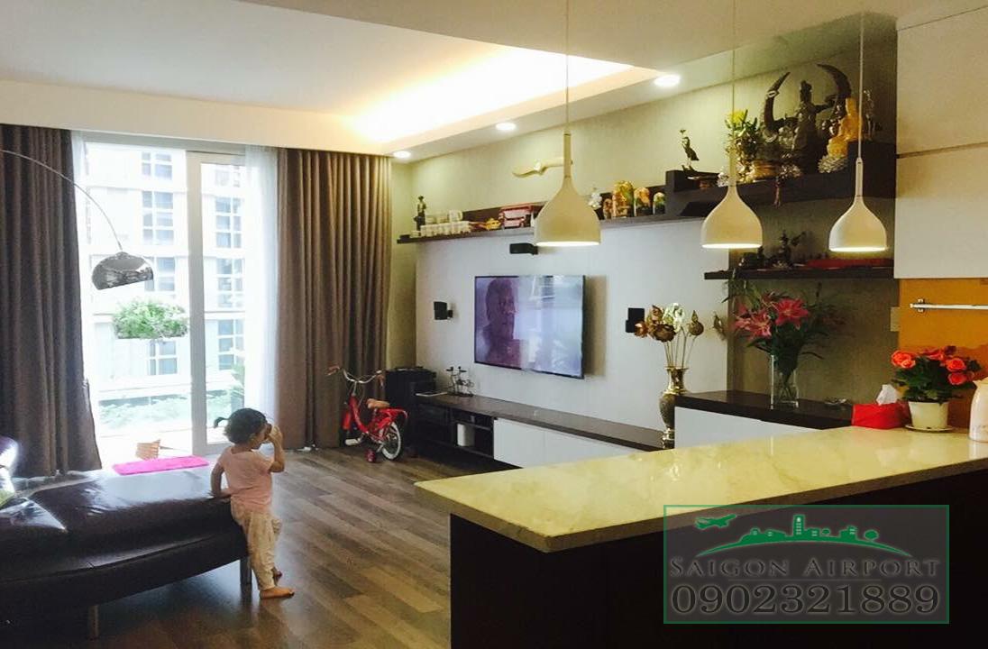 căn hộ Saigon Airport Plaza quận Bình Tân cho thuê giá rẻ - view phòng khách