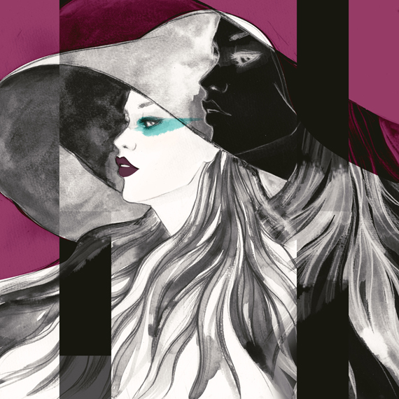 fashion illustration, drawings and watercolors by Soleil Ignacio