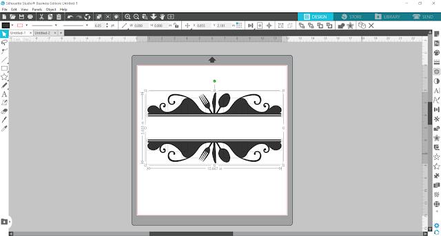 split monogram, monogram, custom designs, silhouette studio v4, compound path