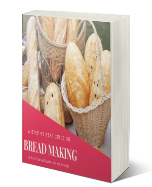 A bread making tutorial ebook with different bread making recipes