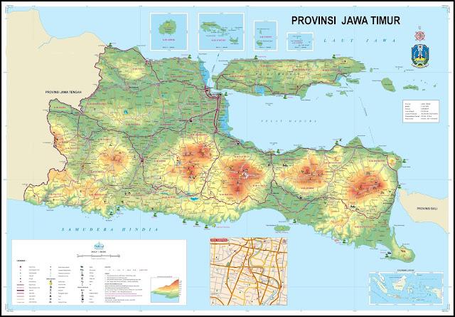 Peta Jawa Timur, Peta Jalan