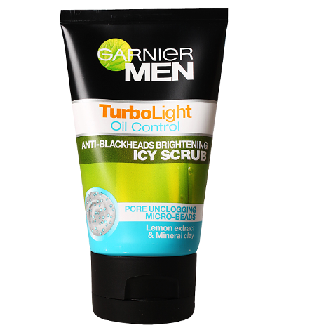 GARNIER MEN TURBO LIGHT OIL CONTROL ICY SCRUB FACE WASH 100 G