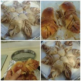 resep nutella star bread