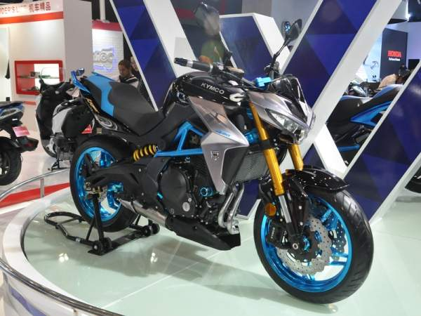 Kymco K Rider 400 Biru Silver Hitam