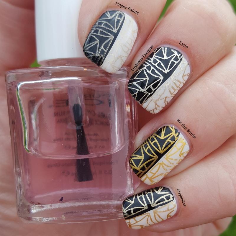 Gold Nail Polish Stamping Comparison - <em>Lustrous Lacquer</em>