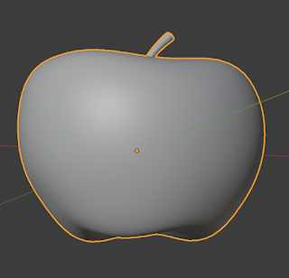 A 3D-modeled apple shape.