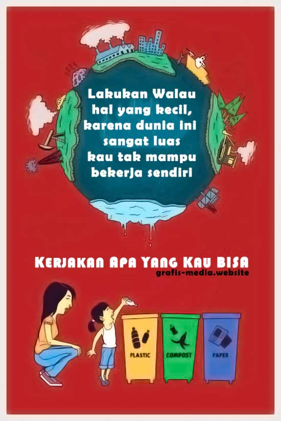 poster melestarikan lingkungan