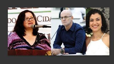 Carstens e as novas secretárias Terezinha Pereira e Patrícia Parra