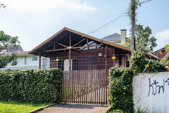 Casa de madeira em Curitiba