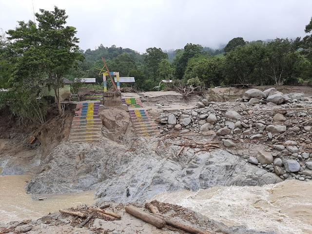 Banjir Bandang Di Masamba Mengakibatkan 4 Jembatan Terputus