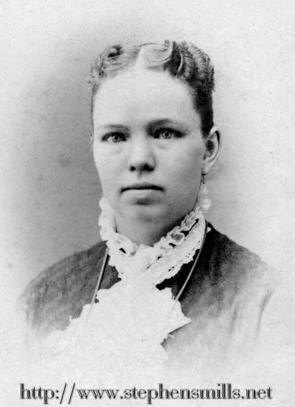 photo Alice Amanda Hathaway Bacon Born 7/24/1854 in Paris, Maine Died 6/12/1904 in Woodstock, Maine she died of Bright's Disease Daughter of John Hathaway 1826 - 1869  and Mehitable Perkins Felt 1831 - 1899