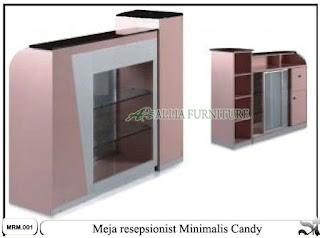 meja resepsionist loby minimalis candy