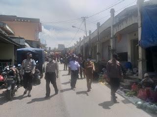 Sasar pasar Sudu unit Sabhara gencar patroli Sosialisasi dan edukasi disiplin Prokes