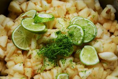Confiture de poires au citron vert