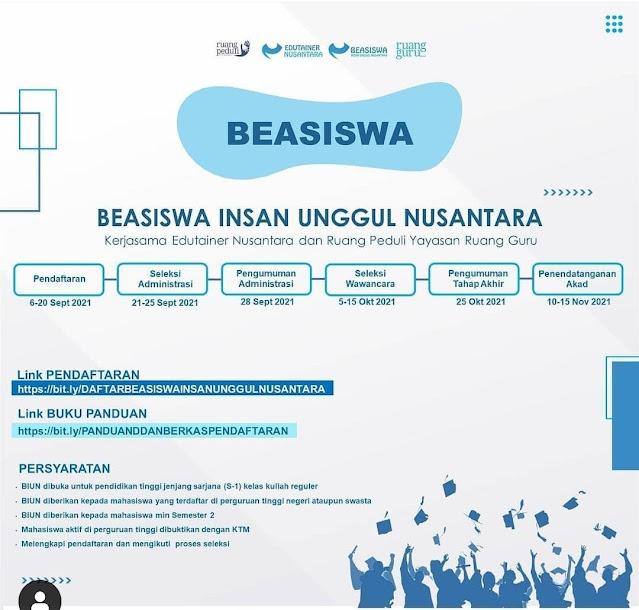 Ini Syarat Beasiswa Insan Unggul Nusantara