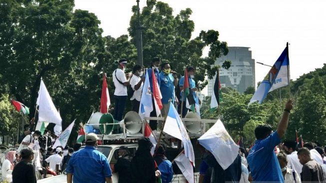 Aksi Dukung Palestina, KNPI: Warga Indonesia Sepakat Agresi Israel adalah Pengkhianat!