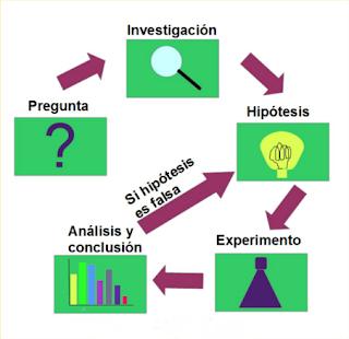 El método científico tiene una serie de etapas que comienzan con una pregunta, seguida de una investigación, la propuesta de una hipótesis, experimentación, análisis y conclusiones y si se concluye que la hipótesis no es correcta se vuelve a plantear una nueva hipótesis seguida de las demás etapas.