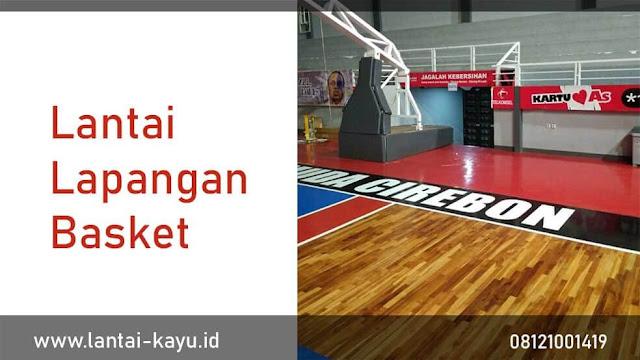 lantai kayu lapangan basket cilegon