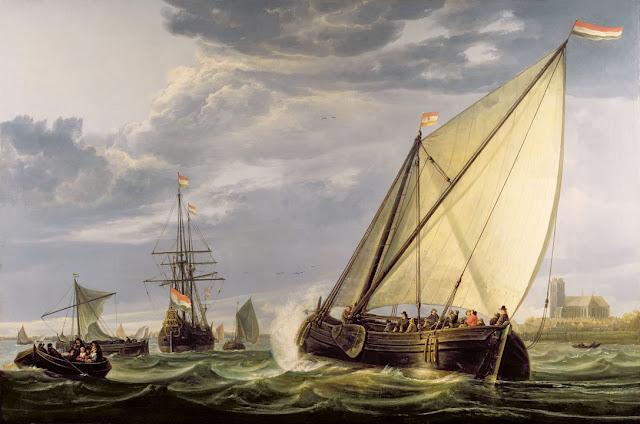 Альберт Кёйп - Корабли на Маасе. 1650-55