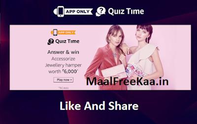Accessorize Quiz Time
