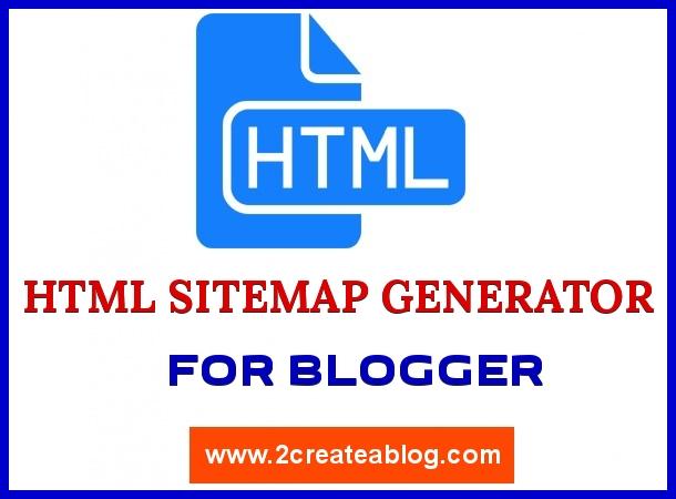 HTML Stemap Generator for Blogger