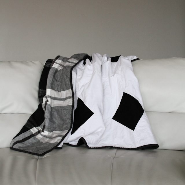 layers of charm modern and easy black and white quilt | Lovely and Enough