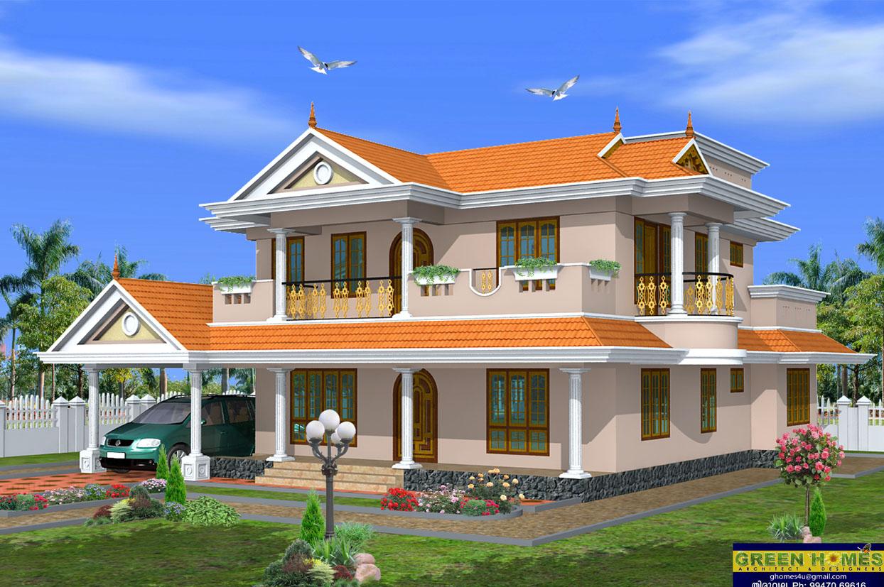 Green Homes Beautiful 2 Storey House Design 2490 SqFeet