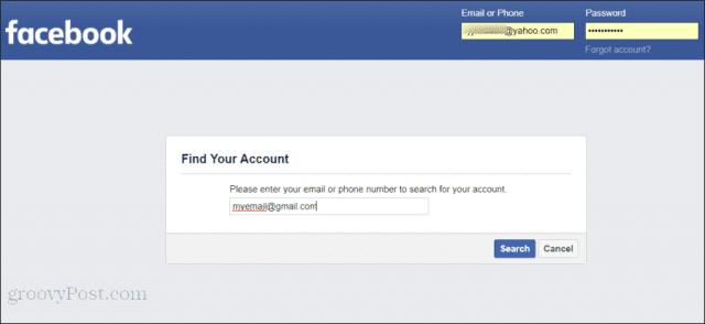 إعادة ضبط كلمة مرور فيسبوك