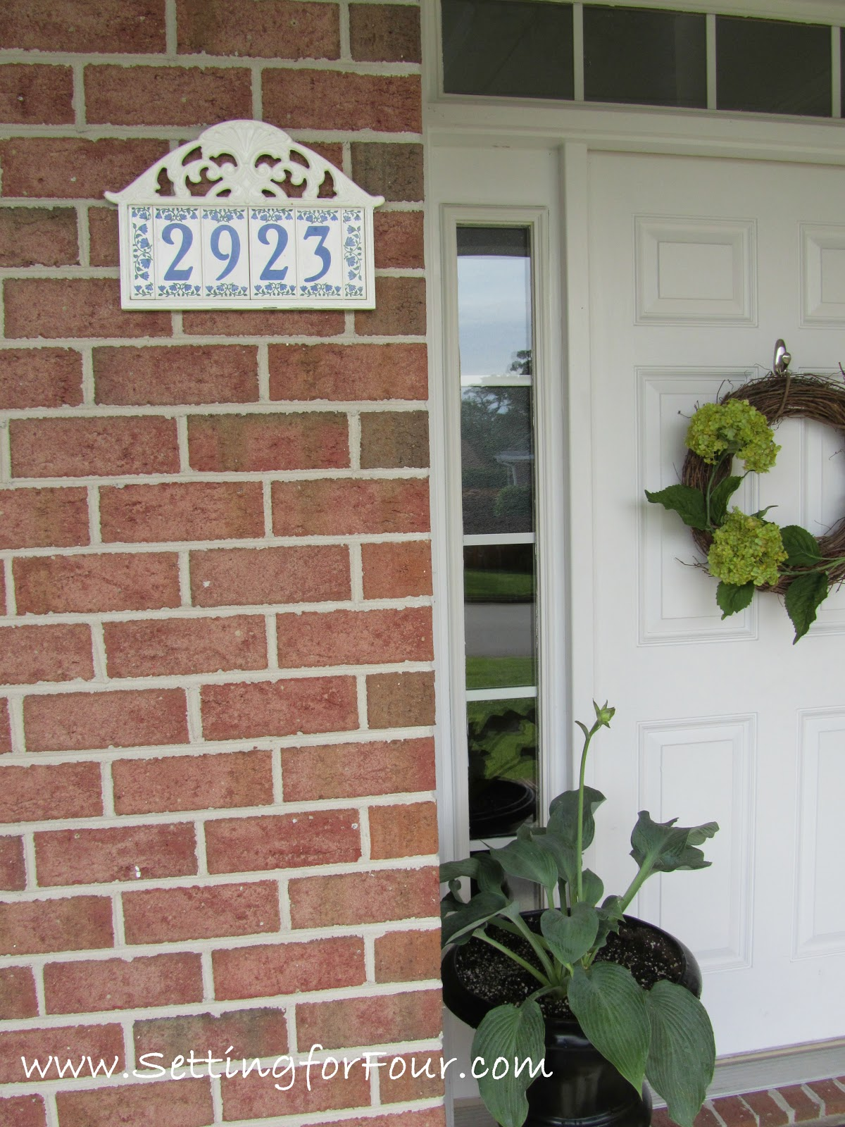 Easy Diy Address Plaque Makeover Setting For Four